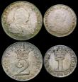 London Coins : A165 : Lot 2788 : Maundy Set 1800 ESC 2421, Bull 2239 comprising Fourpence GVF toned, Threepence GVF/NEF, Twopence VF ...