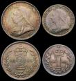 London Coins : A165 : Lot 2808 : Maundy Set 1896 ESC 2511, Bull 3554 A/UNC to UNC with attractive matching tone