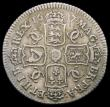 London Coins : A165 : Lot 2860 : Shilling 1677 Second Bust, with D over misplaced D in DEI, the underlying D way to the right and tou...
