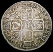 London Coins : A165 : Lot 2863 : Shilling 1708 Roses and Plumes, Third Bust ESC 1149, Bull 1401 Fine the reverse with slight adjustme...