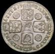 London Coins : A165 : Lot 2871 : Shilling 1743 Roses ESC 1203, Bull 1720 GVF with old grey tone