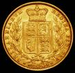 London Coins : A165 : Lot 2990 : Sovereign 1862 Wide Date, R over E in BRITANNIARUM, as S.3852D Near EF/EF, lists at £1650 VF i...