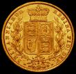 London Coins : A165 : Lot 3018 : Sovereign 1872S Shield Marsh 70, Reverse GVF/EF the reverse with good lustre