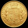 London Coins : A165 : Lot 3021 : Sovereign 1874M Shield Reverse Marsh 60, S.3854, GVF/NEF