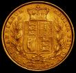 London Coins : A165 : Lot 3022 : Sovereign 1874M Shield Reverse Marsh 60, S.3854, NEF/EF