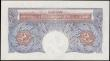 London Coins : A165 : Lot 334 : One Pound Peppiatt Emergency issue Second Period, B249 Blue/Pink Metal Thread issue 1940 A18D 375452...