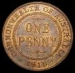London Coins : A165 : Lot 3589 : Australia Penny 1918I KM#23 NEF/GVF with traces of lustre