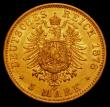 London Coins : A165 : Lot 3624 : German States - Prussia 5 Marks 1878 Gold KM#507 NVF/GVF the obverse with some thin scratches