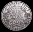 London Coins : A165 : Lot 3635 : Germany 1 Mark 1874D KM#7 Toned UNC with minor cabinet friction