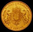London Coins : A165 : Lot 3677 : Hungary 10 Korona 1910KB Gold KM#485 EF with some light contact marks