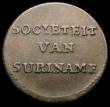 London Coins : A165 : Lot 3789 : Suriname Duit 1764 KM#8.1 Short grass divides date, struck at Enkhuizen under the administration of ...