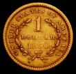 London Coins : A165 : Lot 3821 : USA Gold Dollar 1850 Breen 6011 Good Fine