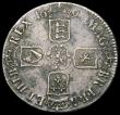 London Coins : A165 : Lot 3843 : Crown 1695 OCTAVO ESC 87, Bull 991 NVF with some uneven toning, the surface with some corrosion