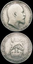 London Coins : A165 : Lot 3871 : Florin 1905 ESC 923, Bull 3581 VG or slightly better, Shilling 1905 ESC 1414, Bull 3591 VG, both Rar...