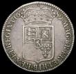 London Coins : A165 : Lot 3879 : Halfcrown 1689 First Shield, Caul and Interior frosted, with pearls, Second L over M in GVLIELMVS ES...
