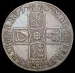 London Coins : A165 : Lot 3883 : Halfcrown 1707 SEPTIMO edge, Plain in angles and below bust, ESC 574, Bull 1366 Good Fine/Fine with ...