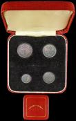 London Coins : A165 : Lot 3907 : Maundy Set 1891 ESC 2506, Bull 3549 NEF to GEF with some contact marks, the set with a colourful mat...