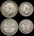 London Coins : A165 : Lot 3915 : Maundy Set 1922 ESC 2539, Bull 3982 EF to GEF with some surface marks and small edge nicks