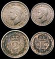 London Coins : A165 : Lot 3918 : Maundy Set 1950 ESC 2567, Bull 4319 EF to A/UNC with matching tone