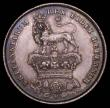 London Coins : A165 : Lot 3940 : Shilling 1825 Bare Head, Lion on Crown reverse ESC 1254, Bull 2405 A/UNC with an attractive grey ton...