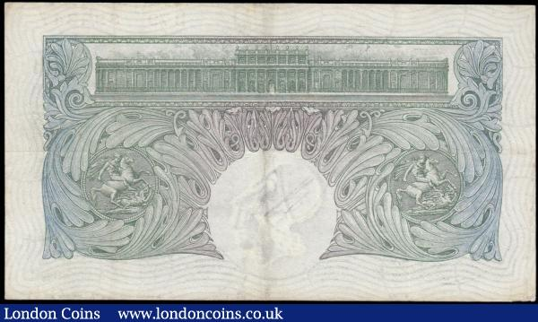 One Pound Mahon Green B212 issued 1928 series B79 892347 VF but looks better with strong lines and pleasing to the eye, showing off the exquisite Britannia design : English Banknotes : Auction 165 : Lot 41