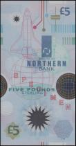 London Coins : A165 : Lot 704 : Northern Ireland Northern Bank Limited 5 Pounds SPECIMEN No. 0013 year 2000 Commemorative Millennium...