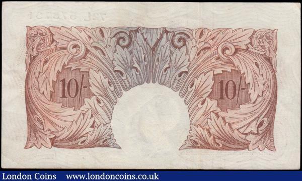 Ten shillings Peppiatt B262 issued 1948 threaded variety, first series 72L 578731, GVF : English Banknotes : Auction 165 : Lot 72