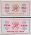 London Coins : A165 : Lot 720 : Northern Ireland Northern Bank Limited SPECIMEN notes (2) comprising 50 Pounds unsigned and undated ...
