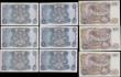London Coins : A165 : Lot 94 : Bank of England Hollom, Fforde and Page (9) including Ten Pounds Lion & Key B326 issues 1971 a c...