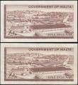 London Coins : A165 : Lot 973 : Malta 1 Pounds Pick 26 L. 1949 (1963) QE2, St. George's Cross & Marsa Industrial Estate (2)...