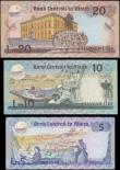 London Coins : A165 : Lot 975 : Malta 1986 issue (3) 5 Liri P38, 10 Liri P39 and 20 Liri P40 Unc and seldom offered