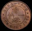 London Coins : A166 : Lot 1126 : Hong Kong Cent 1865 KM#4.1 GEF/AU with a trace of lustre, a small striking flaw on the bust, the fie...