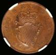 London Coins : A166 : Lot 1140 : Ireland Halfpenny 1736 Proof in an NGC holder appears conservatively graded at PF62 BN