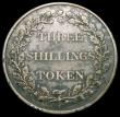 London Coins : A166 : Lot 1149 : Jersey Three Shilling Token 1813 KM#Tn6 Good Fine with some old grey tone, a seldom seen scarce type