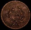 London Coins : A166 : Lot 1214 : USA Cent 1794 Head of 1794, Sheldon 42 , Obverse 18: Truncated Hair Locks, Several hair locks are cu...