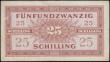 London Coins : A166 : Lot 137 : Austria World War II Allied Occupation 25 Schilling (ALLIIERTE MILITÄRBEHÖRDE) Pick 108a s...