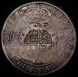 London Coins : A166 : Lot 1450 : Crown Charles I First Milled Coinage by Briot (1631-1632) S.2852 mintmark flower and B/B VG unevenly...