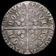 London Coins : A166 : Lot 1458 : Groat Henry V London Mint, Mullet on Right Shoulder, S.1765 mintmark Pierced Cross, Fine/Good Fine