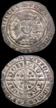 London Coins : A166 : Lot 1462 : Groats (2) Edward III Post-Treaty Period  London Mint S.1637 Mintmark Cross Pattee, Fine or better, ...