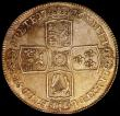 London Coins : A166 : Lot 1530 : Crown 1746 LIMA ESC 125, Bull 1669 GEF with golden toning, a few light scattered haymarks barely det...