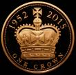 London Coins : A166 : Lot 1608 : Five Pound Crown 2015 Queen Elizabeth II - The Longest Reigning Monarch Gold Proof S.L43, the Obvers...