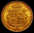 London Coins : A166 : Lot 1685 : Half Sovereign 1887 Jubilee Head, Imperfect J in J.E.B. Marsh 478C, DISH L508 VF/GVF with a scuff on...