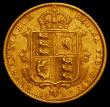 London Coins : A166 : Lot 1687 : Half Sovereign 1892 No J.E.B on truncation, Low Shield S.3869D, DISH L516 Good Fine