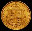 London Coins : A166 : Lot 1688 : Half Sovereign 1892 No J.E.B on truncation, Low Shield S.3869D, DISH L516 NVF/VF