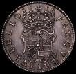 London Coins : A166 : Lot 1718 : Halfcrown 1658 Cromwell ESC 447, Bull 252, About EF and attractively toned, with some minor contact ...