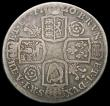 London Coins : A166 : Lot 1746 : Halfcrown 1720 20 over 17 Roses and Plumes ESC 590, Bull 1555 VG