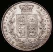 London Coins : A166 : Lot 1783 : Halfcrown 1843 as ESC 676, Bull 2718, variety with broken R in GRATIA with top and central horizonta...