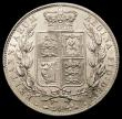 London Coins : A166 : Lot 1801 : Halfcrown 1881 ESC 707, Bull 2758, Davies 590 dies 4D UNC and lustrous the reverse with very light c...