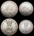 London Coins : A166 : Lot 1873 : Maundy Set 1800 ESC 2421, Bull 2239 NEF to EF
