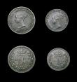 London Coins : A166 : Lot 1888 : Maundy Set 1852 ESC 2462, Bull 3495 EF with grey tone, like many of the early Victorian dates, a rar...